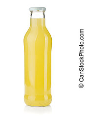 Bottle of lemon juice Isolated on white background