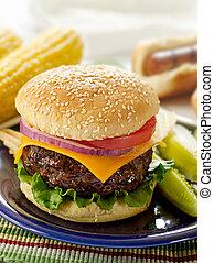 hamburger meal