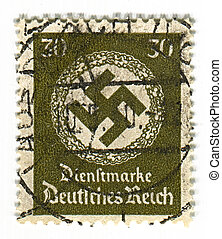 Postage stamp - GERMANY - CIRCA 1937: A stamp printed in...
