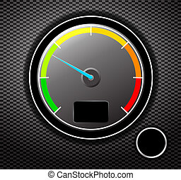speed - Tachometer. Vector illustration