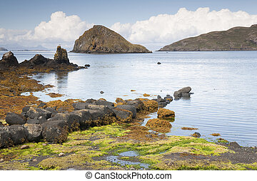 Tulm Bay; Isle of Skye; Scotland; UK looking out to the...