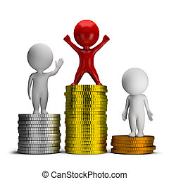 3d small people - thoughts and income - 3d small people...