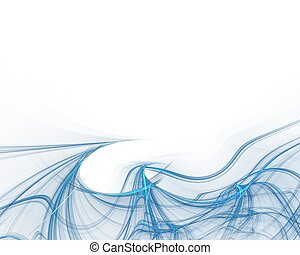 Blue waves abstract rendered background
