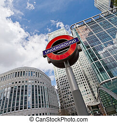 LONDON - APRIL 10: The London Underground sign outside the...