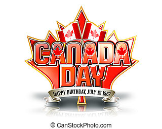 Canada Day graphic white - Canada Day graphic on white...