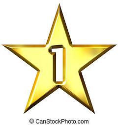 Número, 1, estrela
