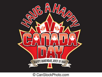 Canada Day Vector Graphic - Have a Happy Canada Day editable...