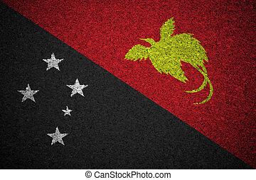 The Papua New Guinea flag