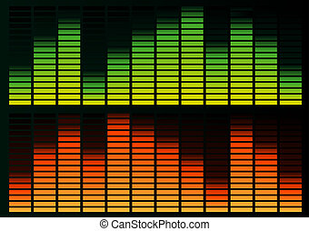 Equalizer - Abstract vector illustration of a graphic...