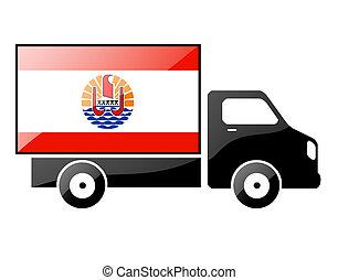 The French polynesia flag