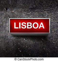 Lisboa Vintage light display - Lisboa Vintage electric red...