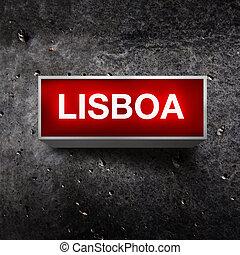 Lisboa Vintage light display - Lisboa Vintage electric red...