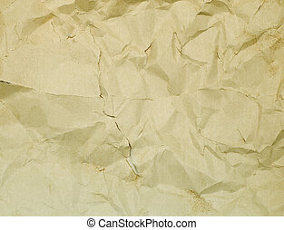 torn wrinkled paper for background
