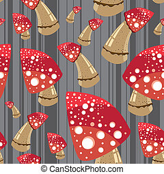 Infected mushroom - seamless pattern