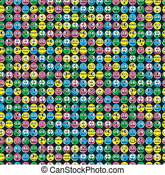 smiles - seamless pattern