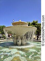 Fontana,  nella,  centrale, plaza