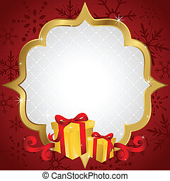 Christmas shopping background - A vector illustration of...