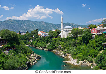 View on the Mostar, Bosnia and Herzegovina