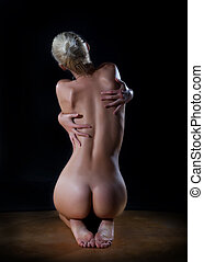 Sexy female beautiful nude woman back - Female beautiful...