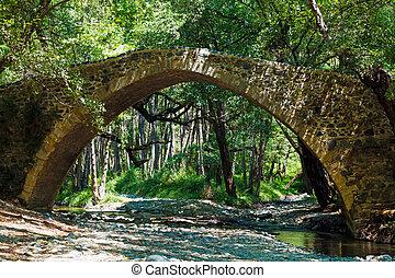tzelefos venetians Bridge in Trodos, Cyprus - Famous...