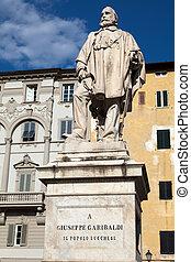 Giuseppe Garibaldi Monument in Lucca - Statue of Giuseppe...