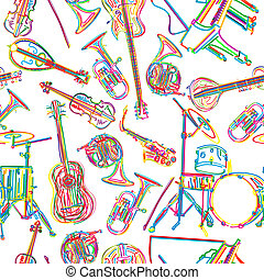 Musical instruments sketch