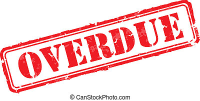 Overdue rubber stamp vector illustration. Contains original...