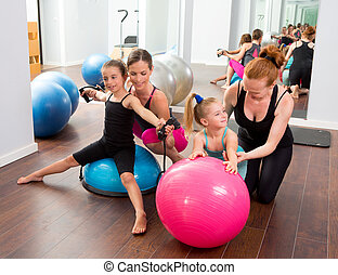 Aerobics pilates women kid girls personal trainer...