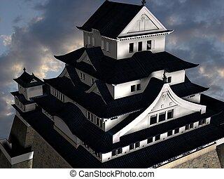 Himeji Castle - 3D Render of the Himeji Castle