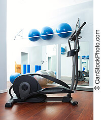 Aerobics cardio training elliptic crosstrainer at gym -...