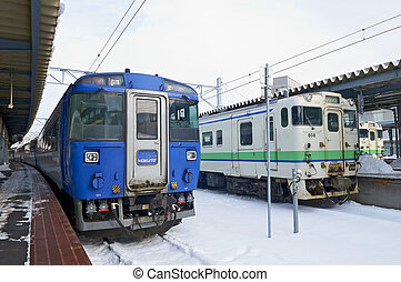 Hakodate City, Japan, December, 22th, 2009: Hakodate Station...