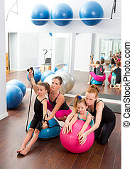 Aerobics pilates women kid girls personal trainer
