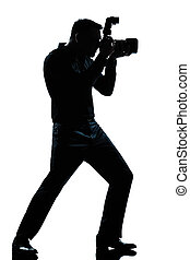 silhouette man full length photographer