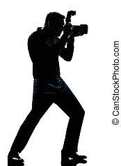 silhouette man full length photographer