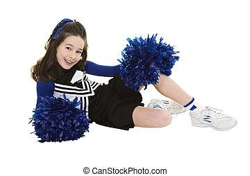 Cheerleader - Ten year old caucasian girl dressed as...