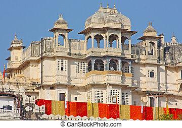 Udaipur, ville, palais, pris, Rajasran, Inde