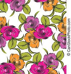 Seamless vector flower wallpaper