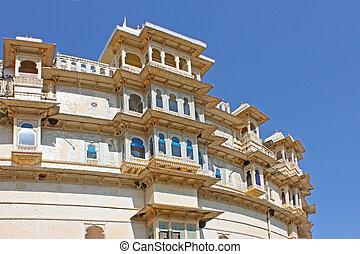 Udaipur city palace taken  in Rajasran, India