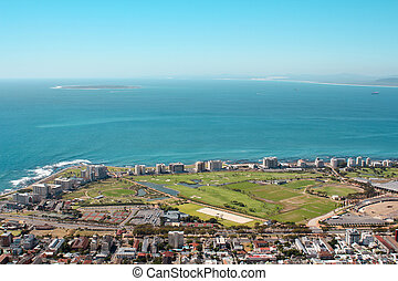 View of Mouille Point with the cape town Stadium from Signal...