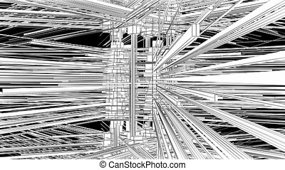 Abstract Structure Animation - Abstract Structure...