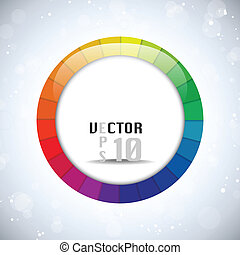 Colorful Glossy Circle Background