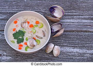 almeja, Sopa de pescado, sopa