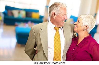 Portrait Of A Happy Senior Couple - Portrait Of A Happy...