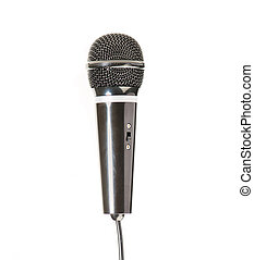 black microphone