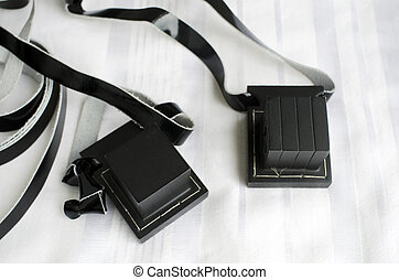 Jewish praying Items - A set of tefillin includes the...