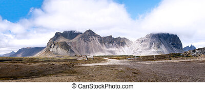 Mountain landscape, Iceland - Mountain landscape in summer,...