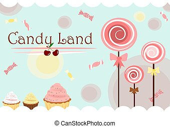 Candy land cute poster