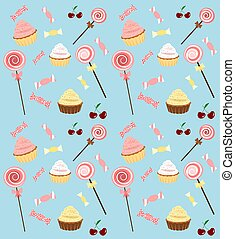 Candy land - Tilable candy background