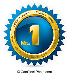 Editors choice number one award badge on white