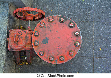 The water supply valve